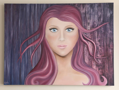 """Marcia"" ~ Oil Painting on Canvas - 30 x 40 inch"