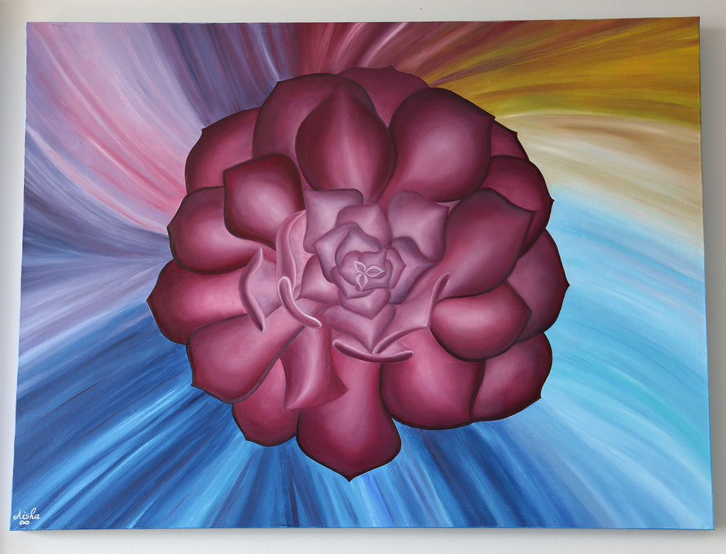 """The Flower of Life"" ~ Oil Painting on Canvas - 30 x 40 inch"