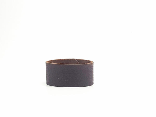 Chocolate Brown Wide Leather Cuff