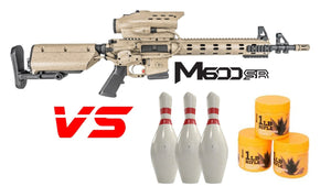 Tracking Point M600 5.56 Rifle vs Bowling Pins/Sonic Boom 1lb Exploding Target