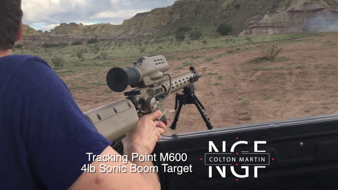 Tracking Point M600 5.56 Rifle vs 4lb Sonic Boom Exploding Target