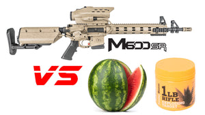 Tracking Point M600 5.56 Rifle vs Watermelon/Sonic Boom 1lb Exploding Target