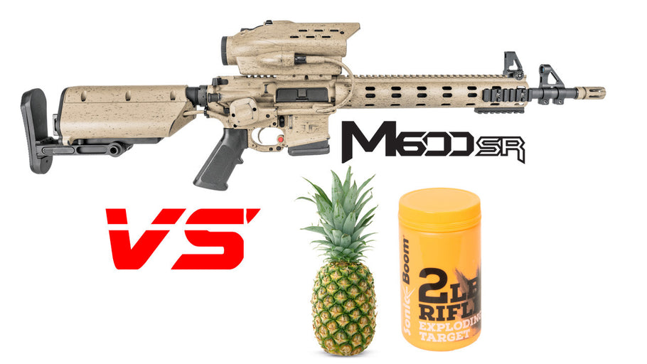 Tracking Point M600 5.56 Rifle vs Pineapple/Sonic Boom 2lb Exploding Target