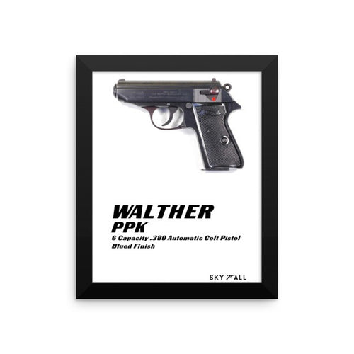Walther PPK - James Bond Skyfall Framed Poster