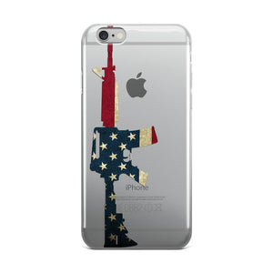 American Flag M16/AR15 Rifle iPhone Case
