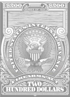 National Firearms Act Gun Trust Tax Stamp