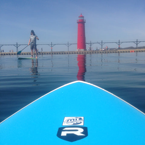 Grand Haven Lighthouse Paddleboarding