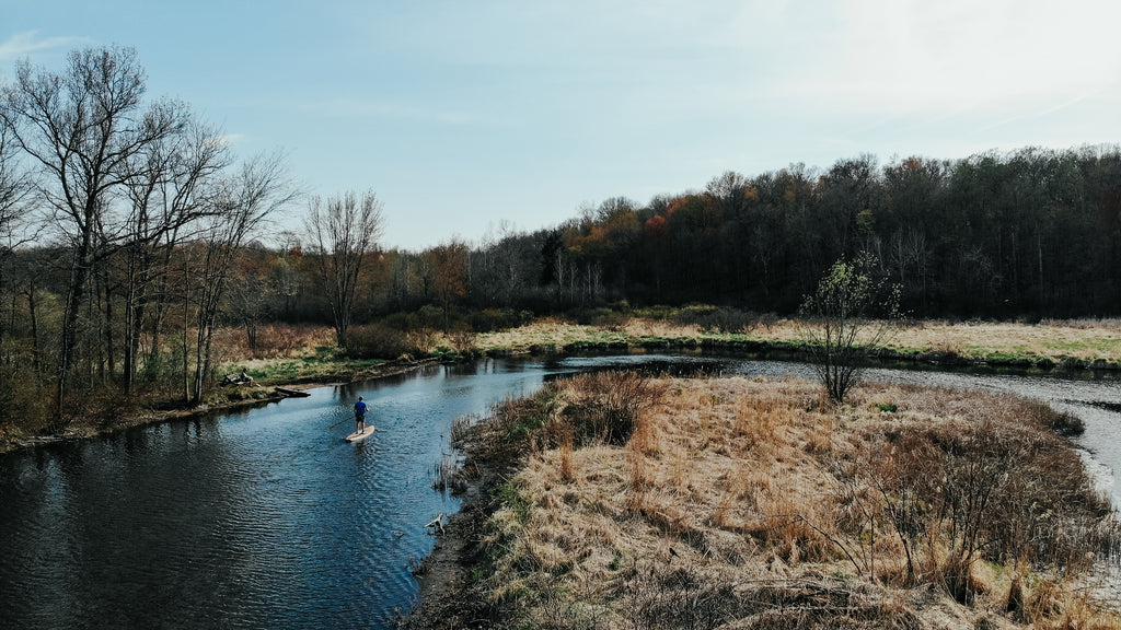 Paddleboarding on the Huron River