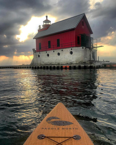 Paddleboarding Grand Haven Lighthouse