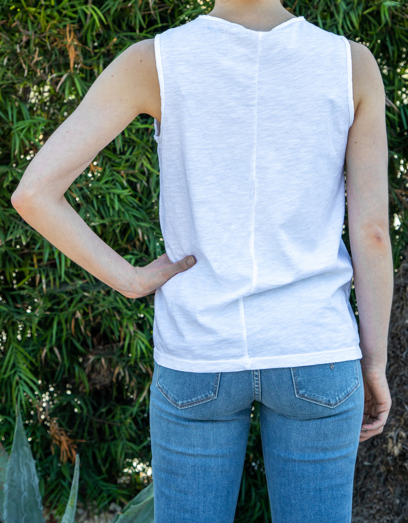 Raw Edge Tank White