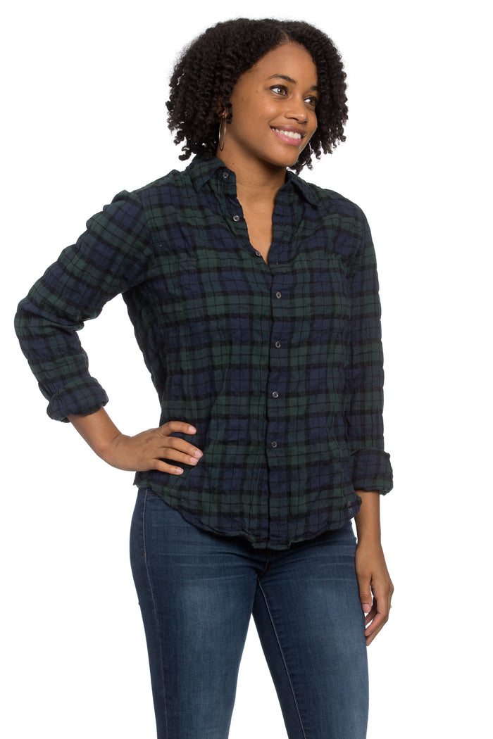 Work Shirt Blackwatch Plaid Crinkle