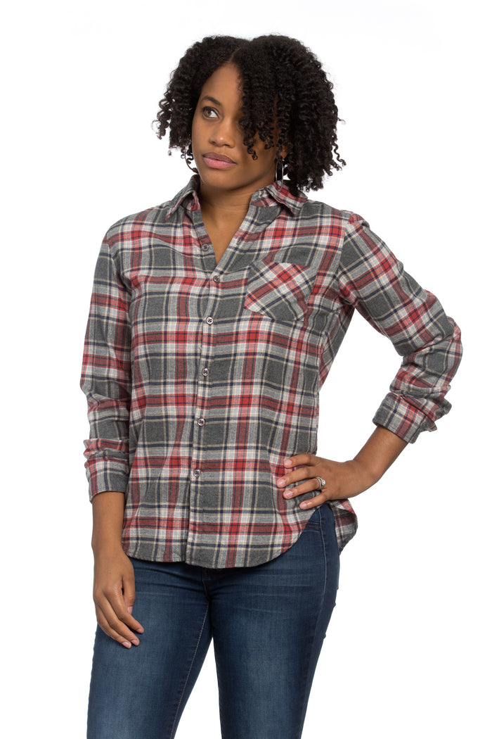 Naomi Shirt Apple Plaid Flannel
