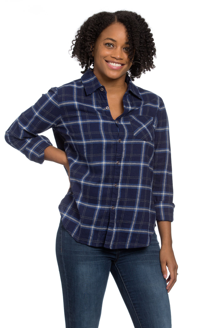 Naomi Shirt Royal Plaid Flannel