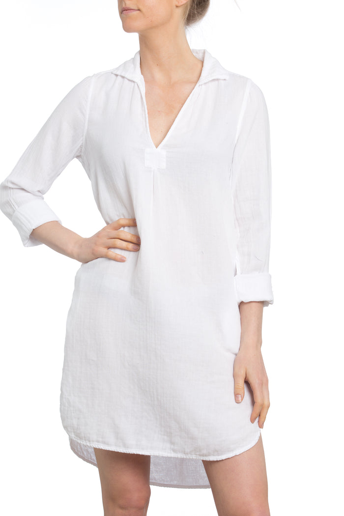 St. Tropez Dress White Gauze