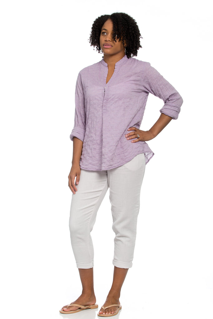 Monet Top in Lilac Crinkle