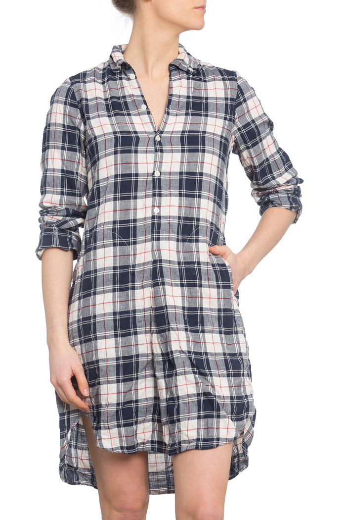 Picasso Dress English Plaid Crinkle