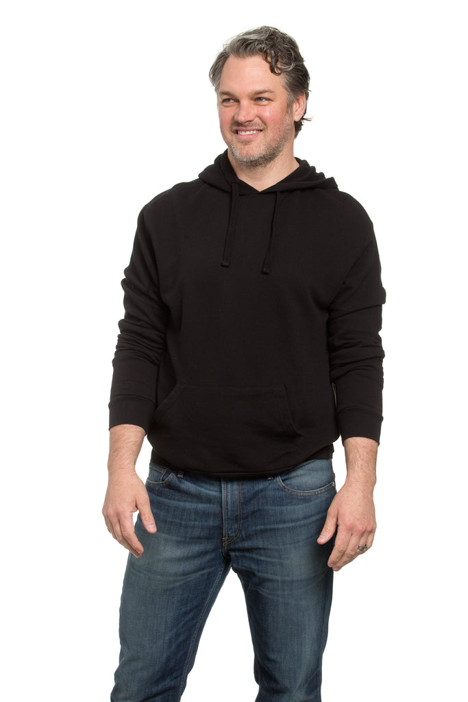 French Terry Hoodie Black