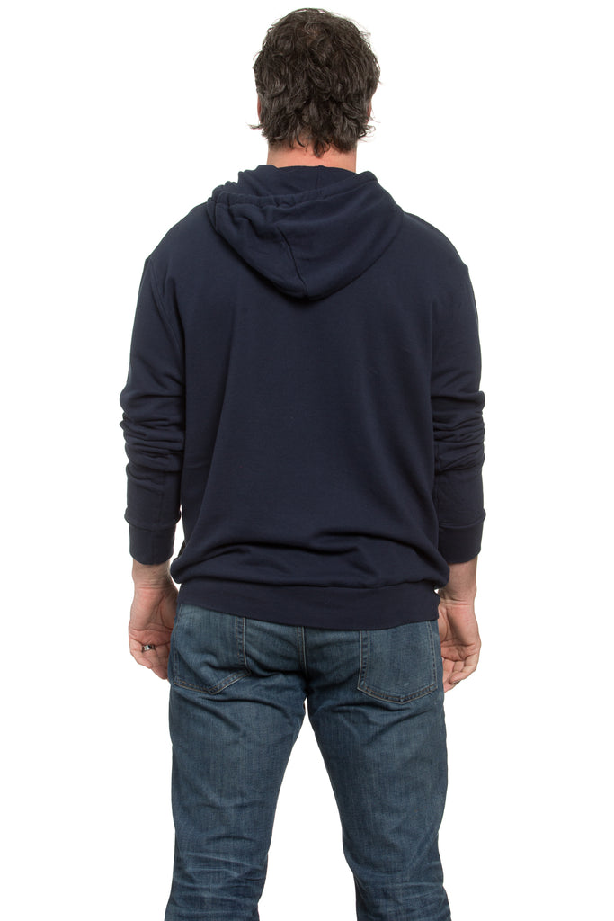French Terry Hoodie Navy
