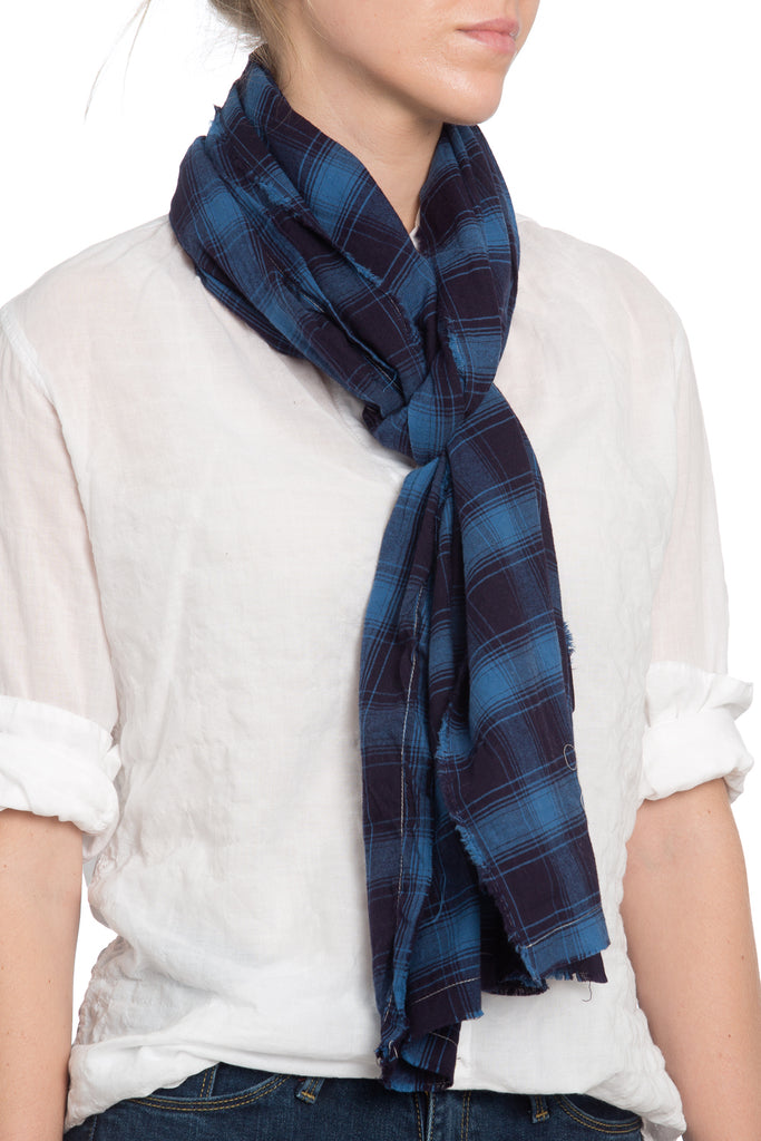The Alex Lehr Scarf in Downtown Plaid Flannel