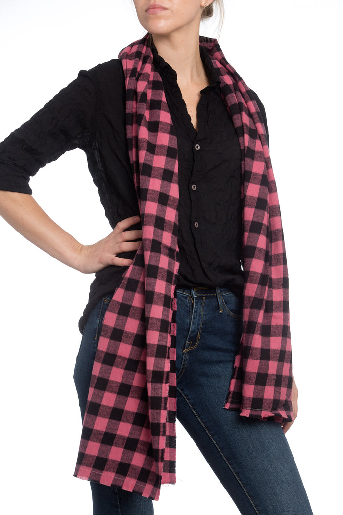The Alex Lehr Scarf in Upstate Plaid Flannel