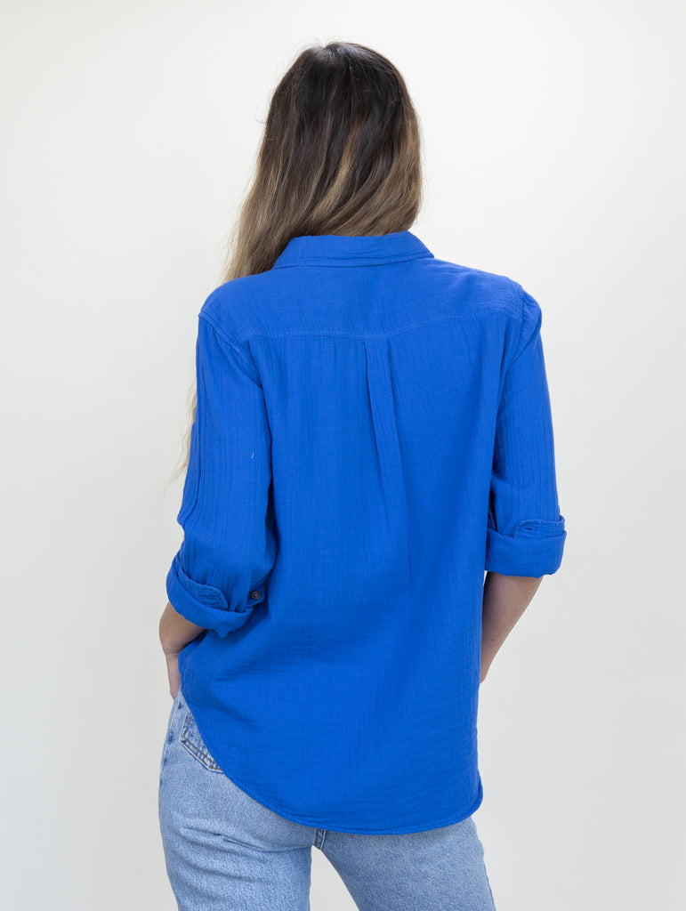 Naomi Shirt Dodger Blue Gauze