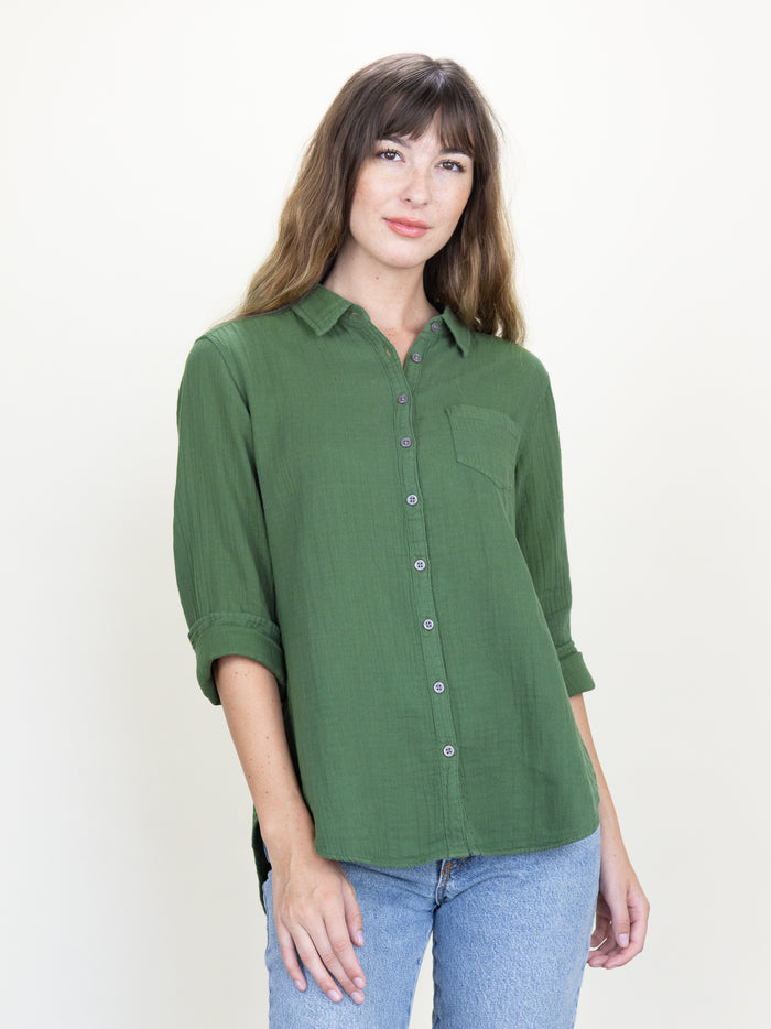 Naomi Shirt Forest Gauze (Limited Edition Color)