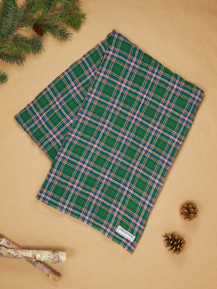 The Alex Lehr Scarf in Scottish Plaid Crinkle