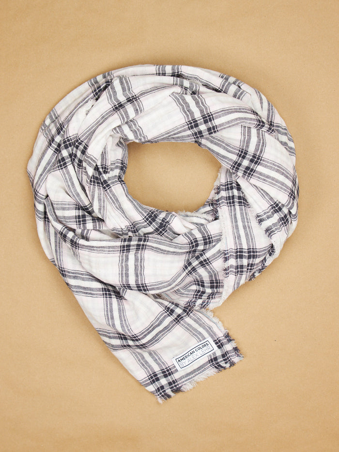 The Alex Lehr Scarf in Cambridge Plaid Crinkle