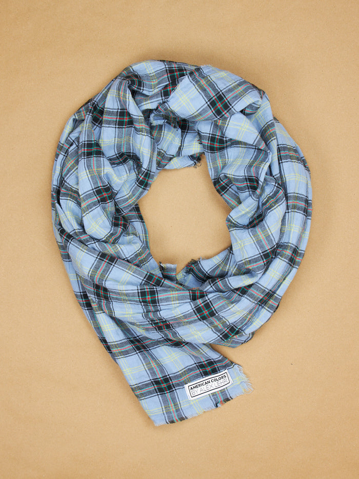 The Alex Lehr Scarf in Sheffield Plaid Crinkle