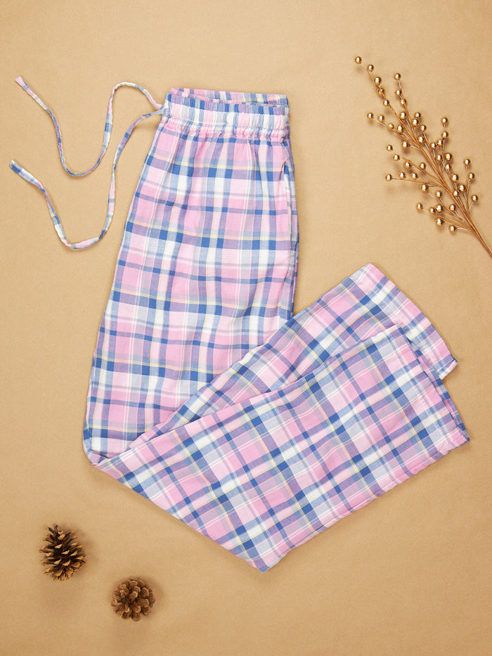 The Pajama Pant Carnation Plaid Cotton