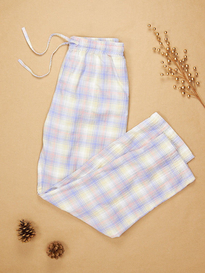 The Pajama Pant Lavender Plaid Cotton