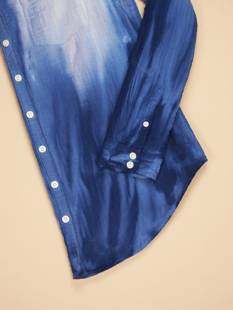 Naomi Shirt Blue/Purple Tie Dye Gauze