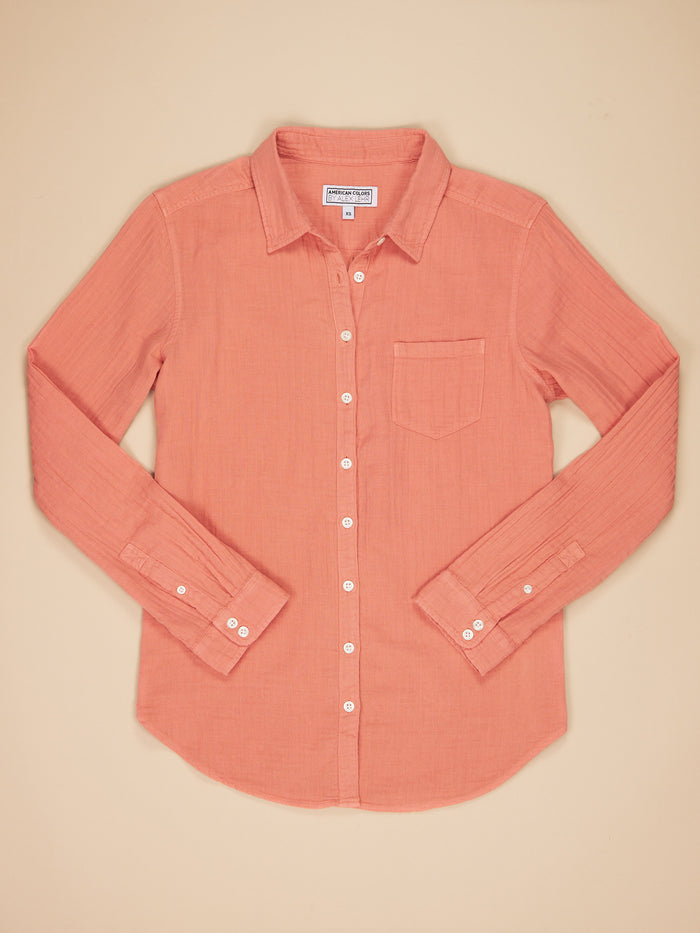 Naomi Shirt Blush Gauze