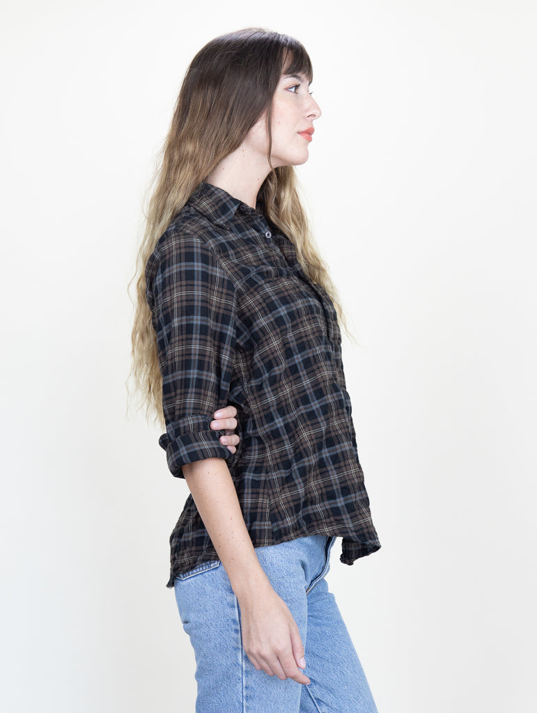 Work Shirt Chestnut Plaid Crinkle