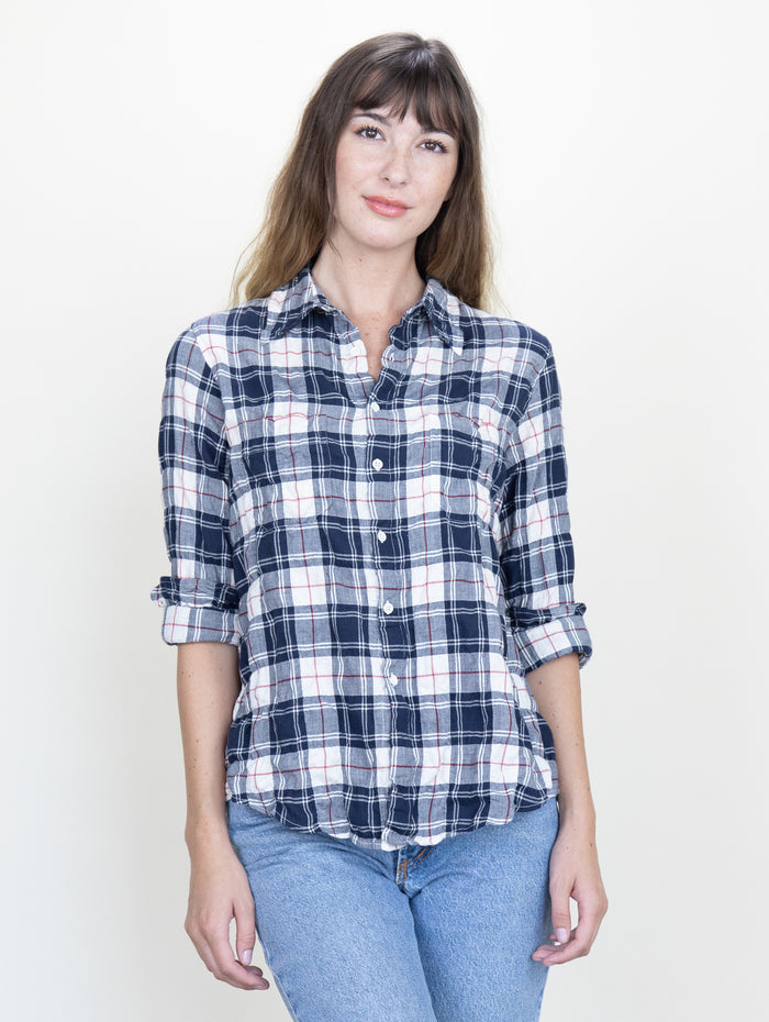 Work Shirt English Plaid Crinkle