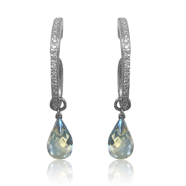 18kt Aquamarine and Diamond earrings - Masterpiece Jewellery Opal & Gems Sydney Australia | Online Shop