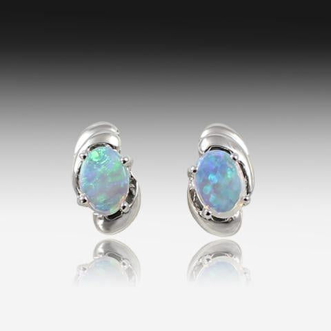 EARINGS OPAL 18K W/GOLD