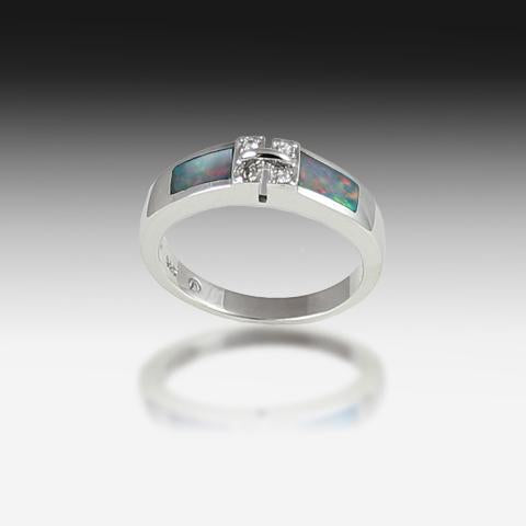 RING S/S INLAY - Masterpiece Jewellery Opal & Gems Sydney Australia | Online Shop