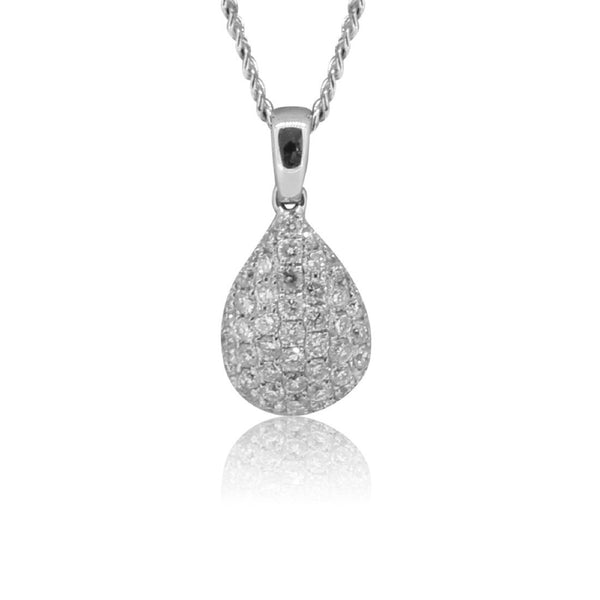 18kt White Gold Diamond pendant - Masterpiece Jewellery Opal & Gems Sydney Australia | Online Shop