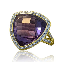 18kt Amethyst and Diamond ring - Masterpiece Jewellery Opal & Gems Sydney Australia | Online Shop
