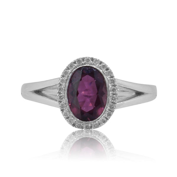 9kt White Gold Tourmaline and Diamond ring - Masterpiece Jewellery Opal & Gems Sydney Australia | Online Shop
