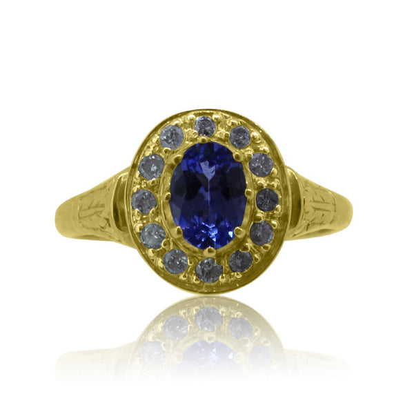 9kt Tanzanite and Diamond ring - Masterpiece Jewellery Opal & Gems Sydney Australia | Online Shop