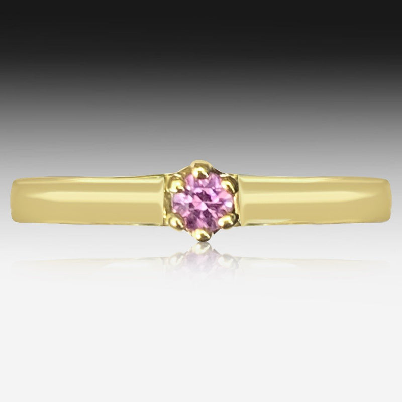 9kt Yellow Gold Pink Sapphire ring - Masterpiece Jewellery Opal & Gems Sydney Australia | Online Shop
