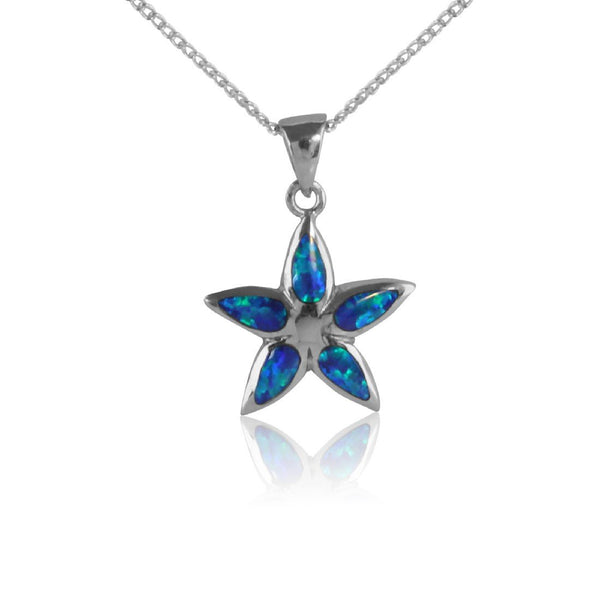 Sterling Silver Star Opal inlay pendant - Masterpiece Jewellery Opal & Gems Sydney Australia | Online Shop