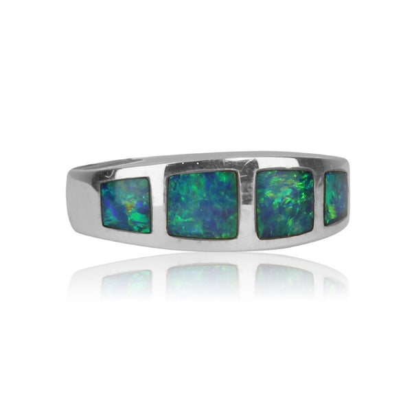 14kt Opal inlay ring - Masterpiece Jewellery Opal & Gems Sydney Australia | Online Shop