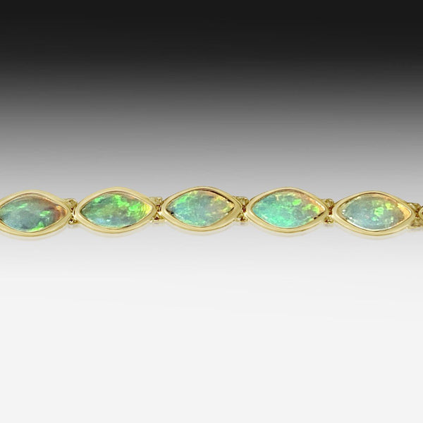 14K Yellow Gold Opal Bracelet
