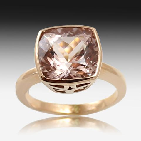 14kt Rose Gold Morganite ring - Masterpiece Jewellery Opal & Gems Sydney Australia | Online Shop