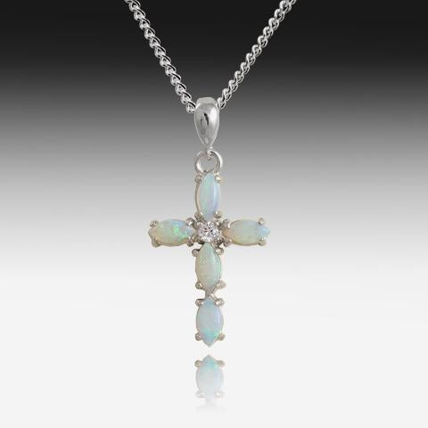 Sterling SIlver Opal cross