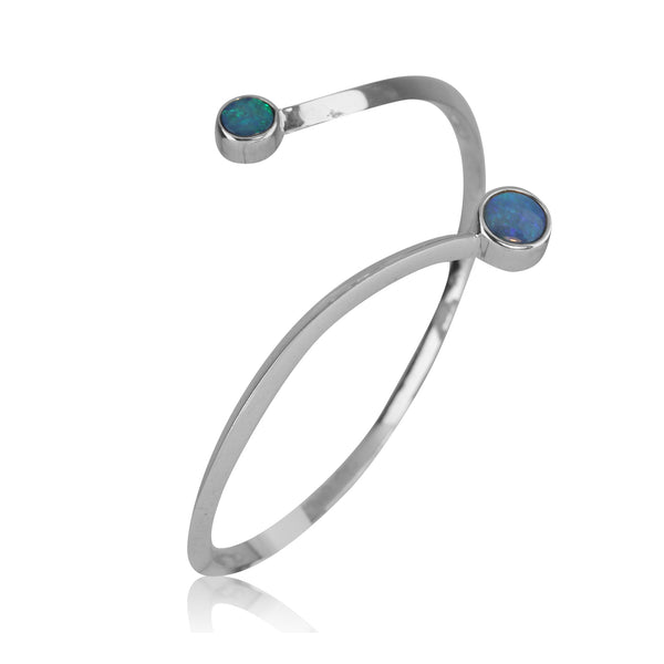 Sterling Silver Opal bangle