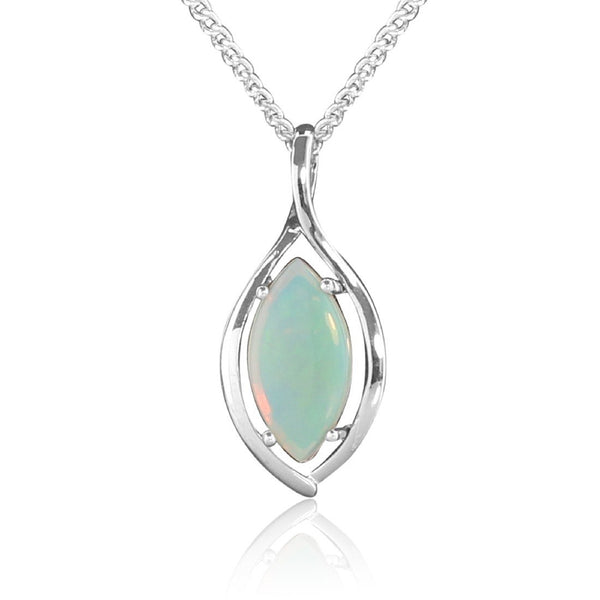 Sterling Silver Marquise Opal pendant